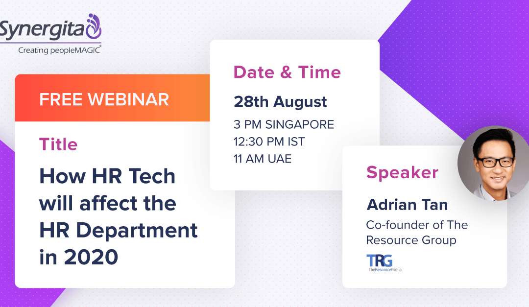 """Free Webinar: """"How HR Tech will affect the HR Department in 2020?"""""""